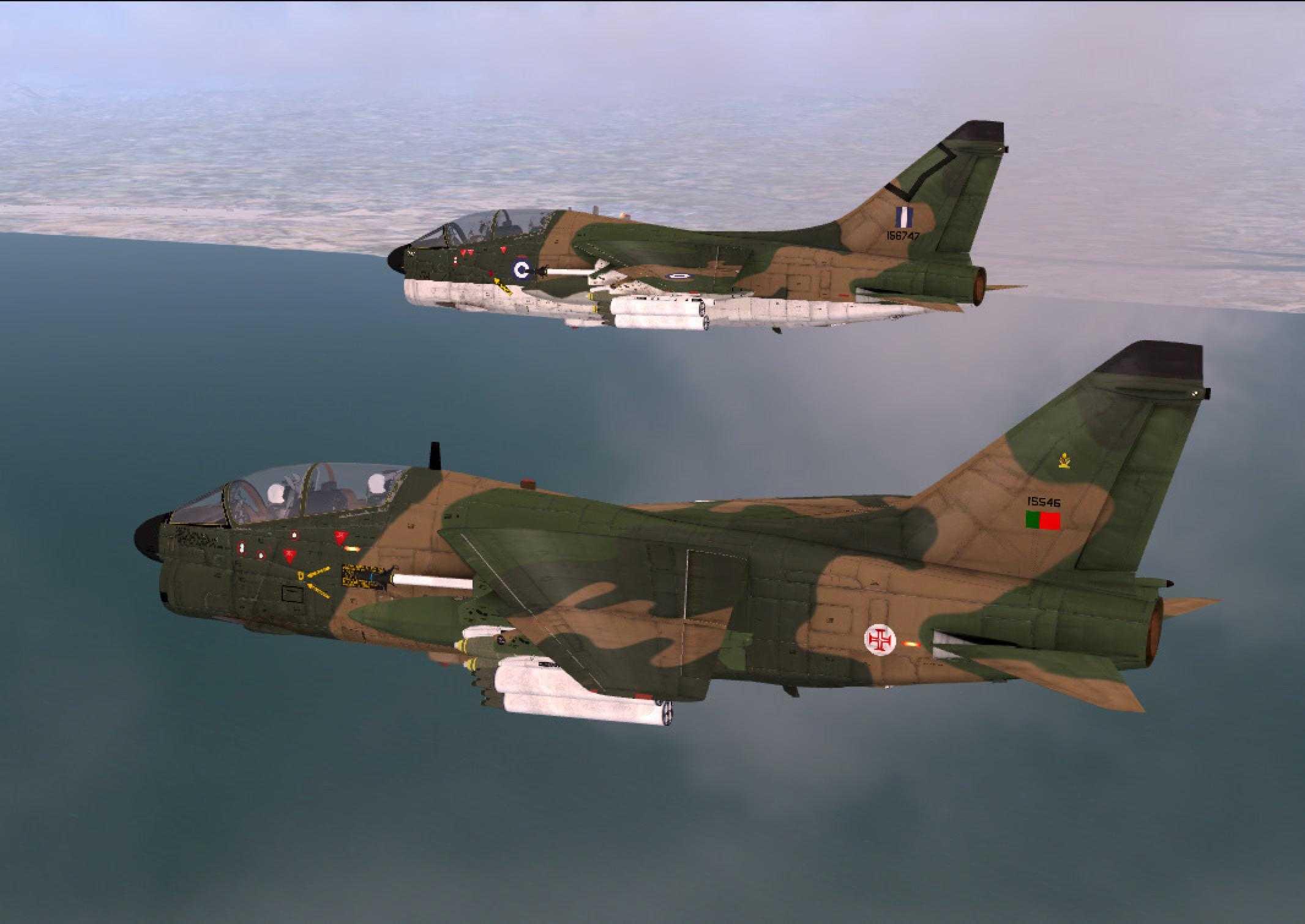 A-7 Corsair da RAZBAM – Simulação