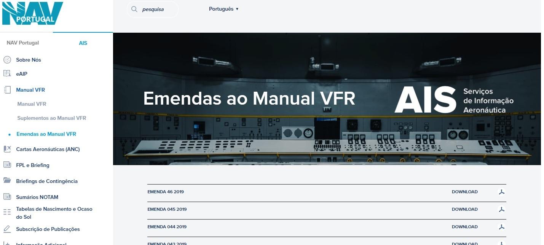 Emenda ao Manual VFR – 046/2019